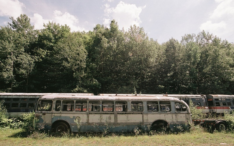 Abandoned Bus Wide #2 - Andrew Hutchins