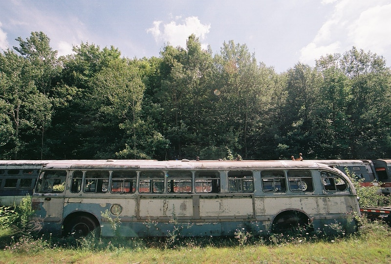Abandoned Bus - Andrew Hutchins