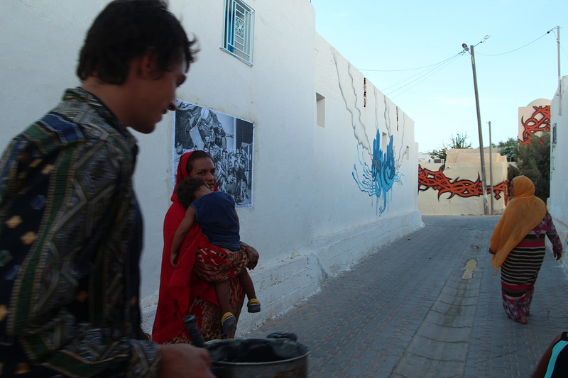 Djerbahood Street Exhibition 2014 - Aline Deschamps