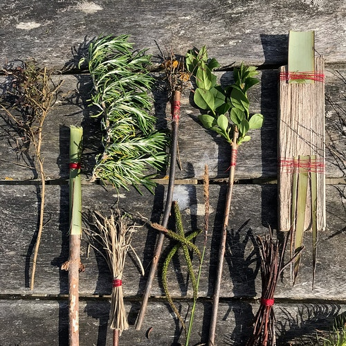 Drawing implements made from plants - Alison Jackson-Bass