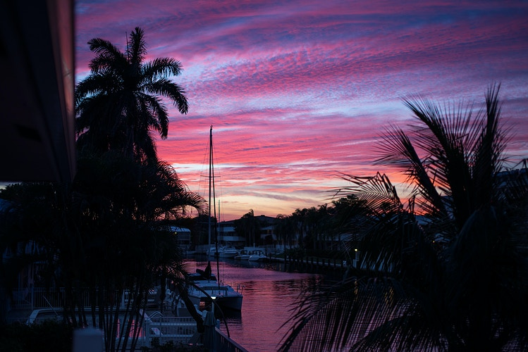 Pink and Blue, Fort Lauderdale Sunset - ANDREW LITSCH, photographer