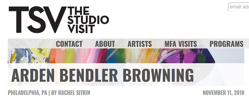 The Studio Visit feature - Arden Bendler Browning