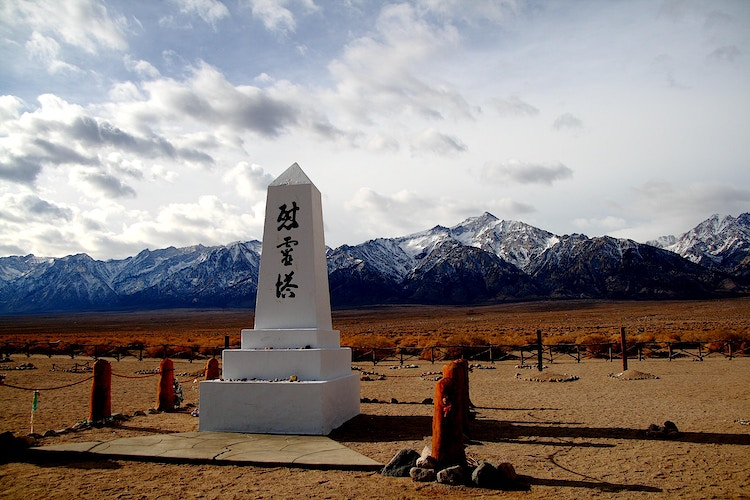 Manzanar Monuments - around the bend photos photography by Sheldon Ballard