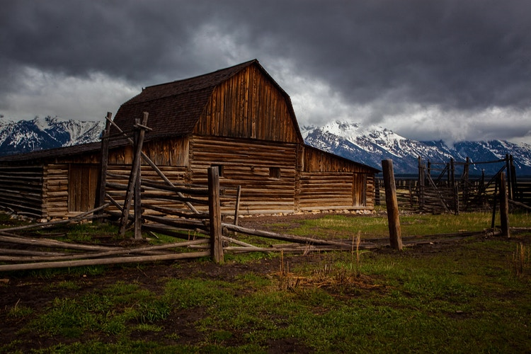 Mormon Row Barn and Corral - around the bend photos photography by Sheldon Ballard