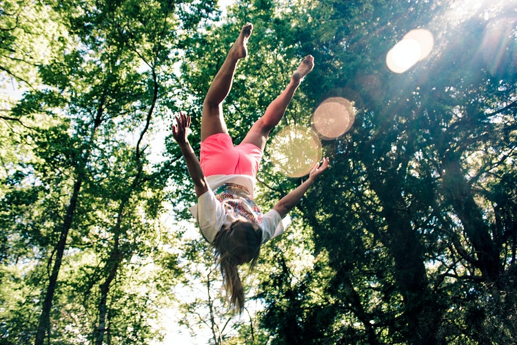 Jumping on the Trampoline - Ashton Garner | Atlanta Photographer