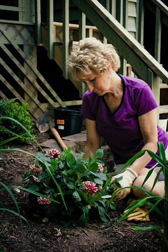 Planting in the Garden - Ashton Garner | Atlanta Photographer