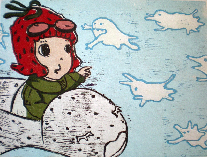Talking to the Cloud Monsters - Ayu Tomikawa ART
