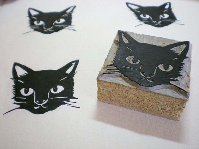 Black Cat Stamp 2 - Ayu Tomikawa ART