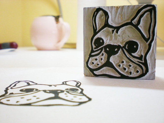 French Bulldog Stamp 2 - Ayu Tomikawa ART