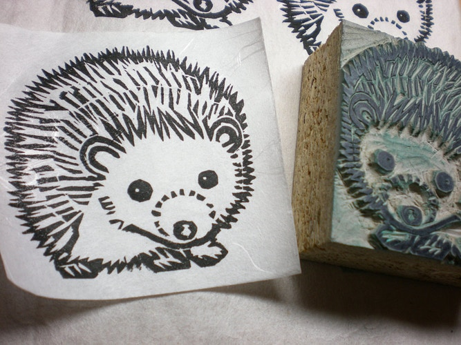 Hedgehog Stamp 2 - Ayu Tomikawa ART