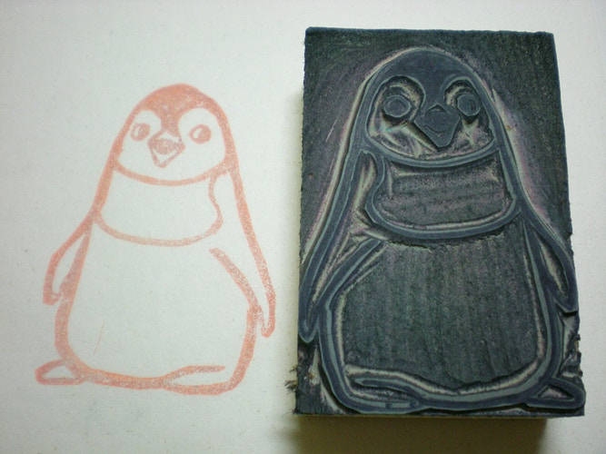 Penguin Stamp 2 - Ayu Tomikawa ART