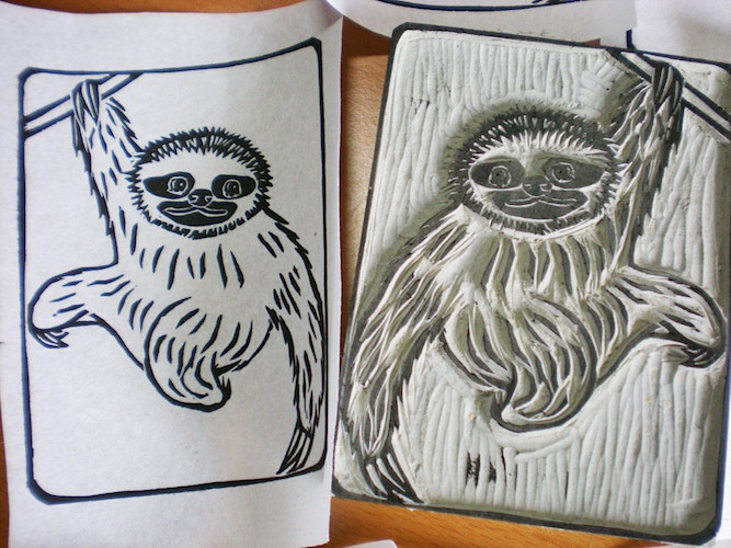 Sloth Stamp 3 - Ayu Tomikawa ART