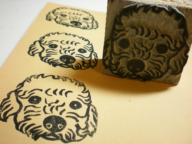 Toy Poodle Stamp 2 - Ayu Tomikawa ART