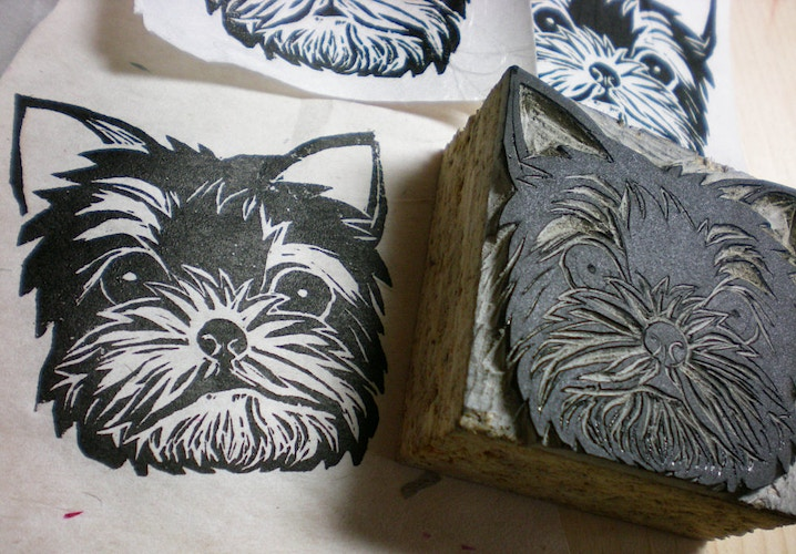 Yorkshire Terrier Stamp 2 - Ayu Tomikawa ART