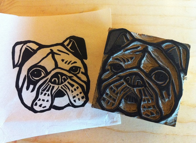 Bulldog Stamp 2 - Ayu Tomikawa ART