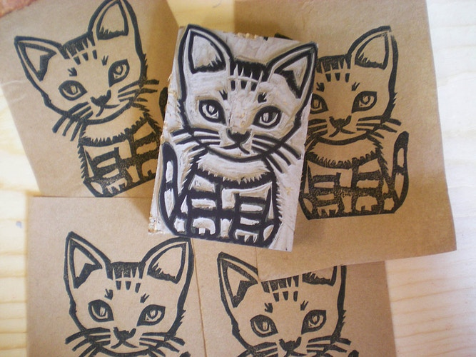 Cat Stamp - Ayu Tomikawa ART