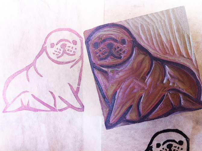 Baby Seal Stamp - Ayu Tomikawa ART