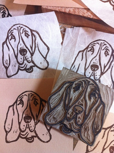 Custom Stamp Dog - Ayu Tomikawa ART