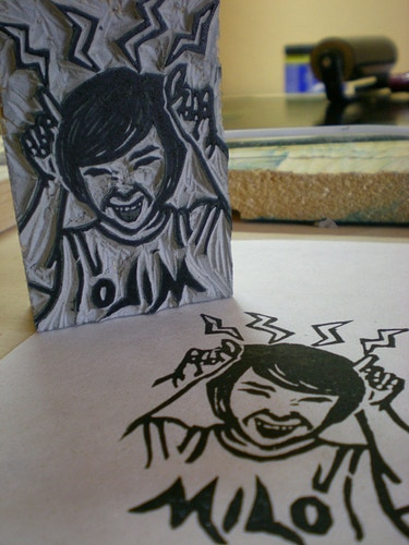 A Boy Custom Stamp - Ayu Tomikawa ART