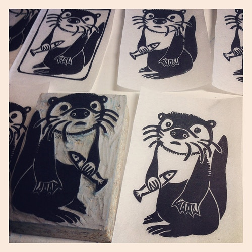 Otter Custom Stamp - Ayu Tomikawa ART