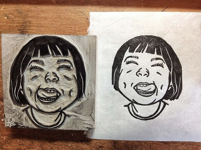 Custom Stamp: A Girl - Ayu Tomikawa ART