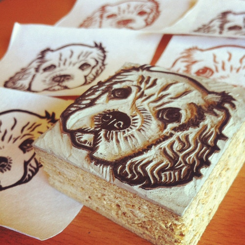 Cocker Spaniel Puppy Stamp - Ayu Tomikawa ART