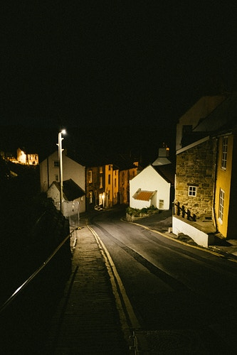 Staithies at Night - Ben Ruset