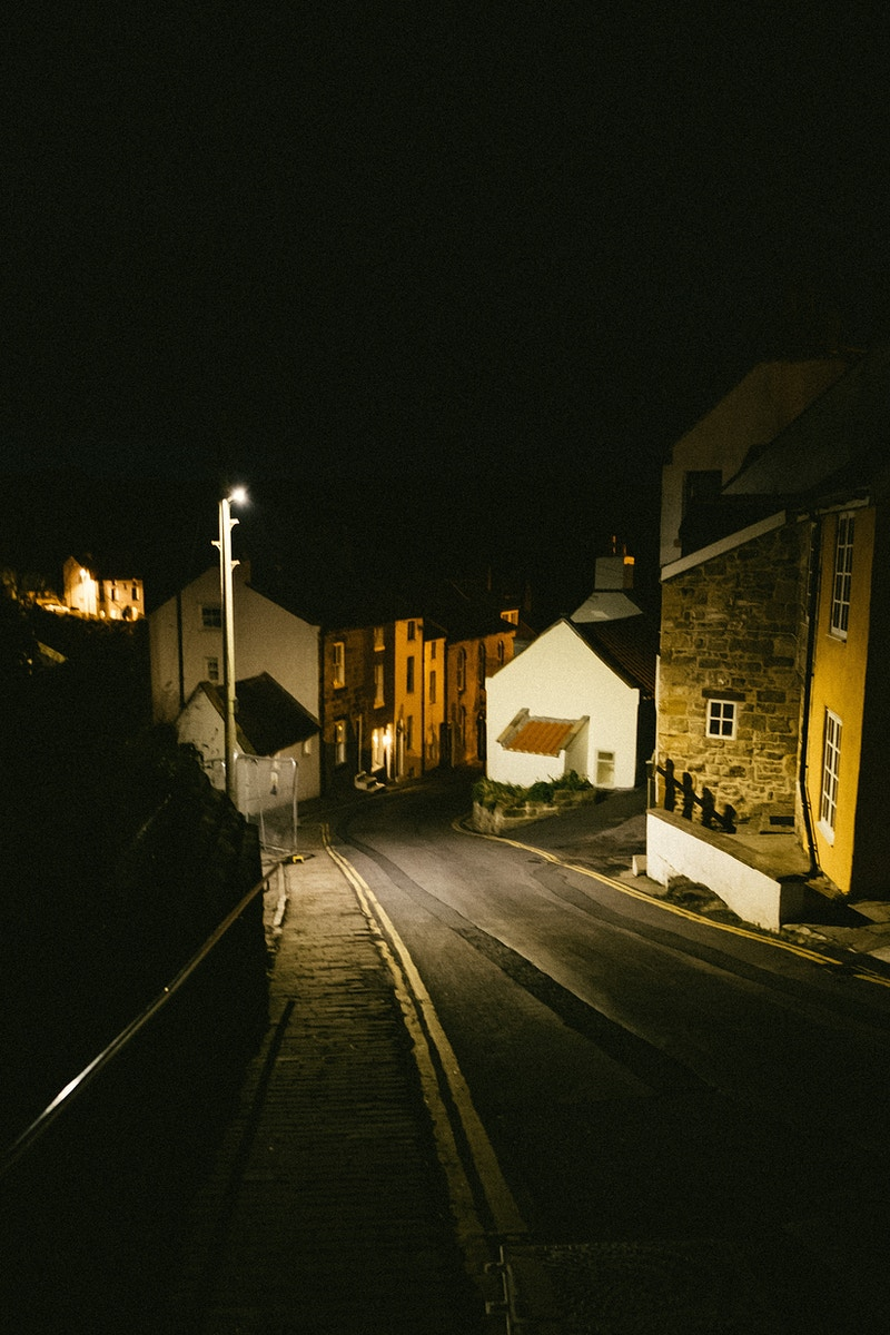 Staithies at Night - Ben Ruset Photography