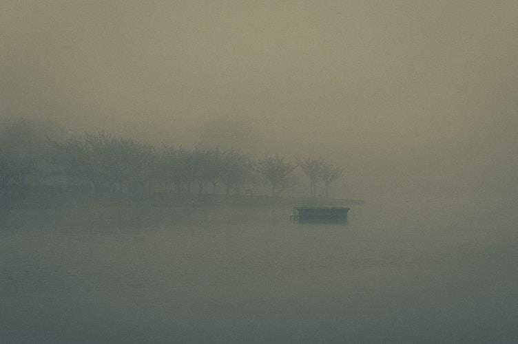 Sunset Lake in the Mist (2015) - Ben Ruset