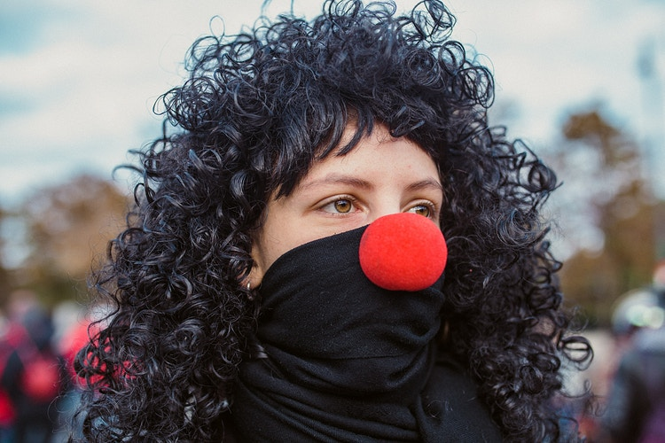 The Red Nosed Army Reportage Vienna Portraiture Seriouspolitics - Ben Owen-Browne ~ Story portraits and wedding photographer in Vienna and beyond