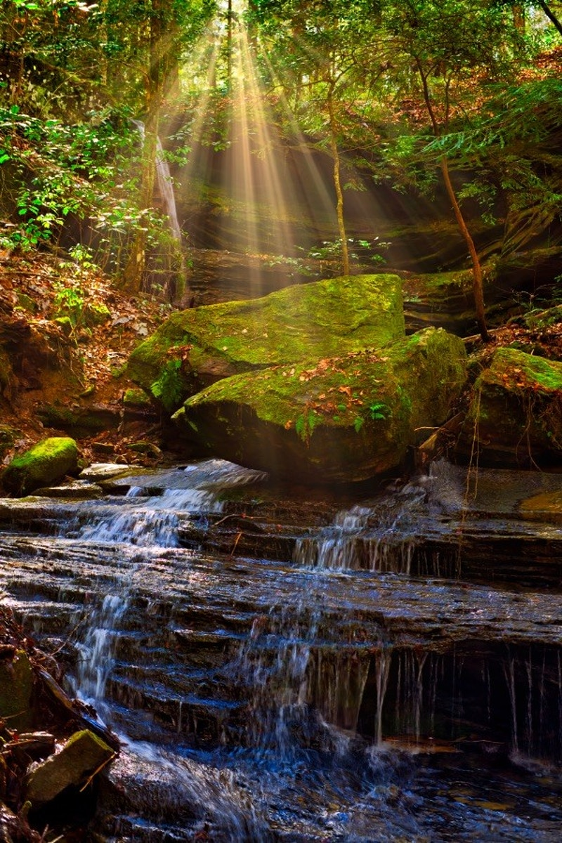 Waterfall Sunshine - Bradel Images
