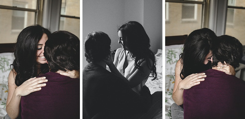 Liz And Mike In Home Engagement - Bri Short Photography | Best Wedding Photographer in Chicago, Illinois
