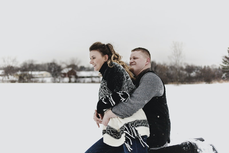 Kasia And Tomek Snowy Engagements - Bri Short Photography | Best Wedding Photographer in Chicago, Illinois