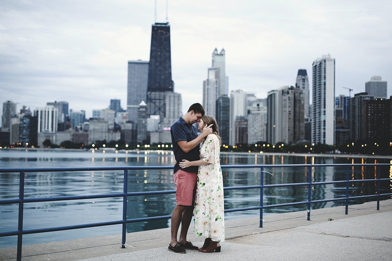 Katie And Paul Sunrise Engagement - Bri Short Photography | Best Wedding Photographer in Chicago, Illinois