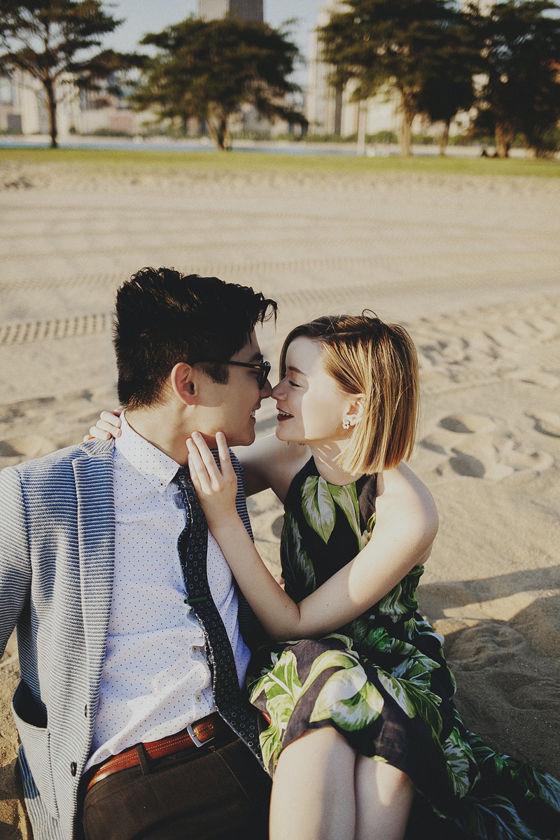 Katlyn And Andrew Lakeshore Love - Bri Short Photography | Best Wedding Photographer in Chicago, Illinois