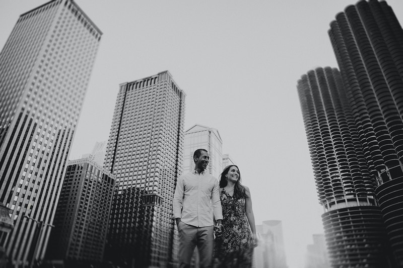 Katie And Ben Chicago Loop Engagements - Bri Short Photography | Best Wedding Photographer in Chicago, Illinois