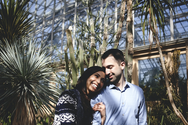 Sarah And Sam Conservatory Engagement - Bri Short Photography | Best Wedding Photographer in Chicago, Illinois