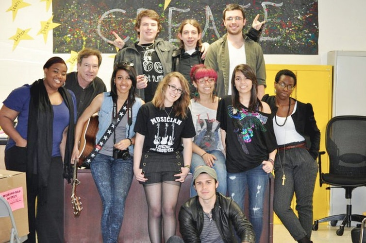 With the Berklee City Music Rock Ensemble & Kris Allen. - brittany butler.