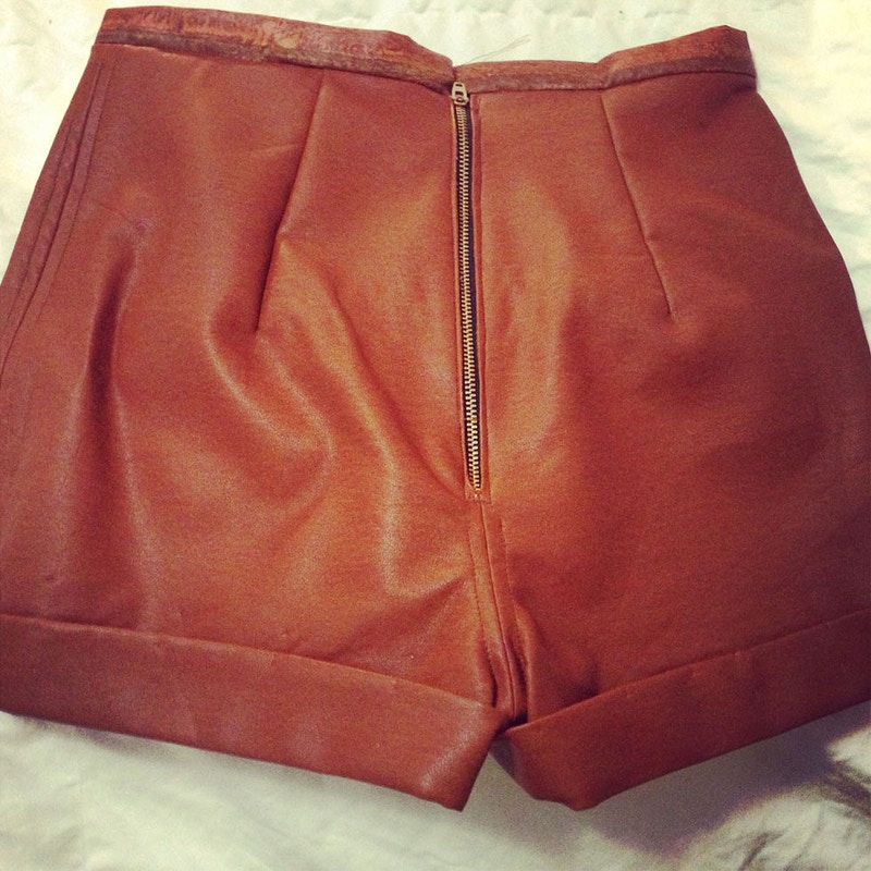 Leather High Waist Shorts - Cassandra Queen
