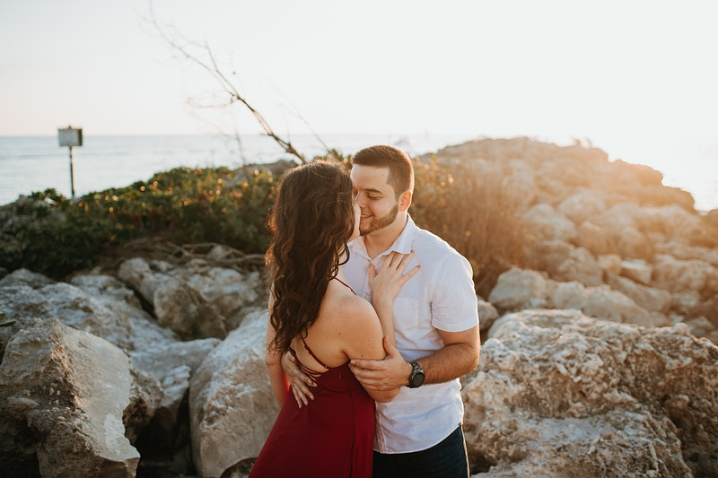 Romantic Naples Beach Engagement - Christiane Elise Photography