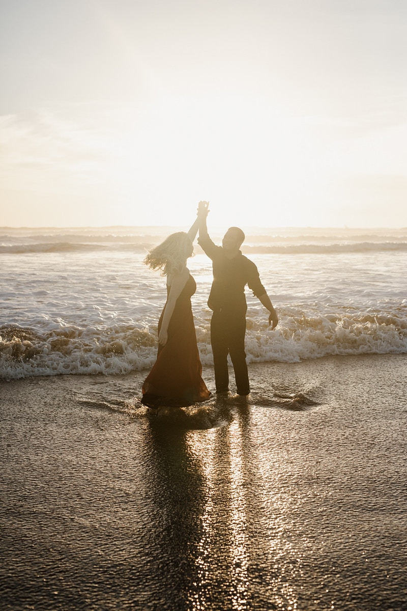 An Oceano Sand Dune Engagement At Sunset - Christy Kendall Photography