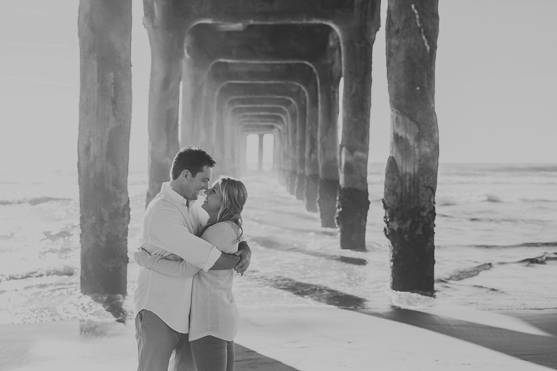 An Epic Huntington Beach Pier Engagement - Christy Kendall Photography