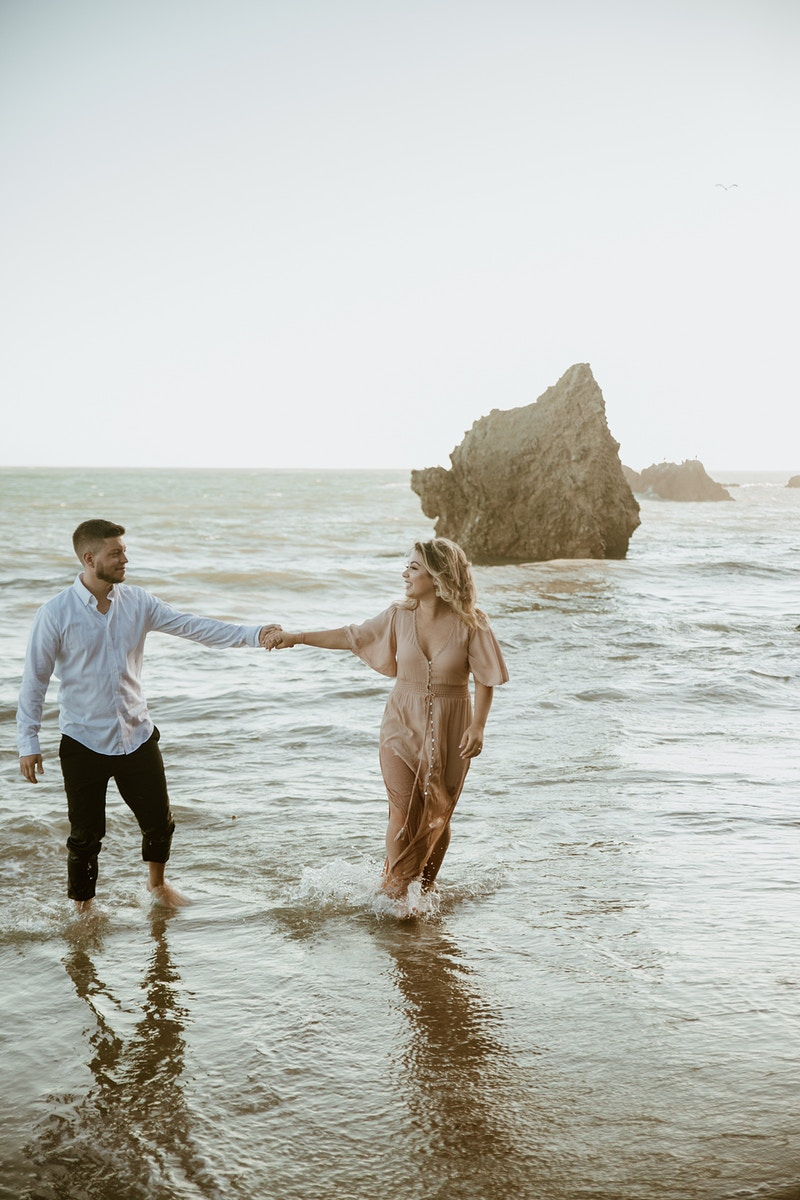 A Windswept Engagement At El Matador Beach - Christy Kendall Photography