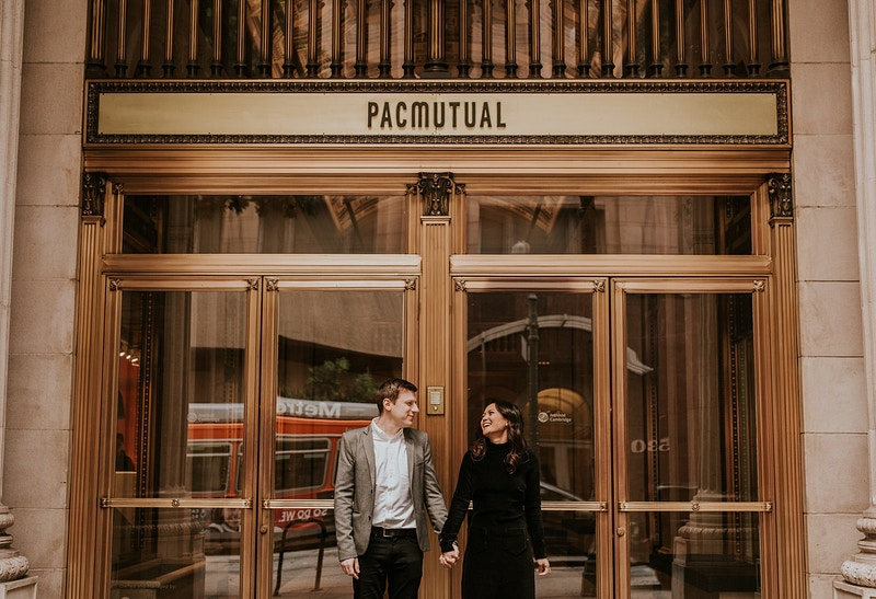 A Classy Downtown La Engagement - Christy Kendall Photography