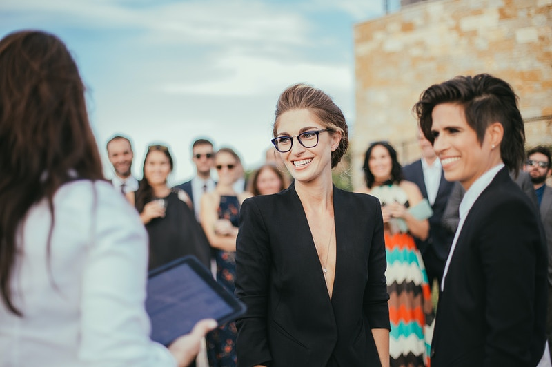 A Stylish Same Sex Wedding At Malibu Rocky Oaks - Christy Kendall Photography