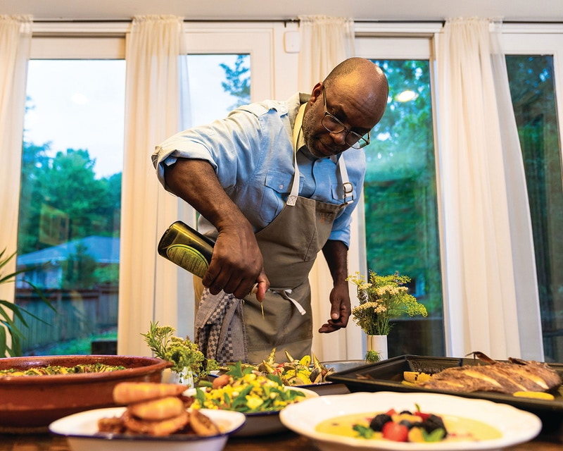Chef Ricky Moore - Chris Charles | Portrait - Commercial Photography