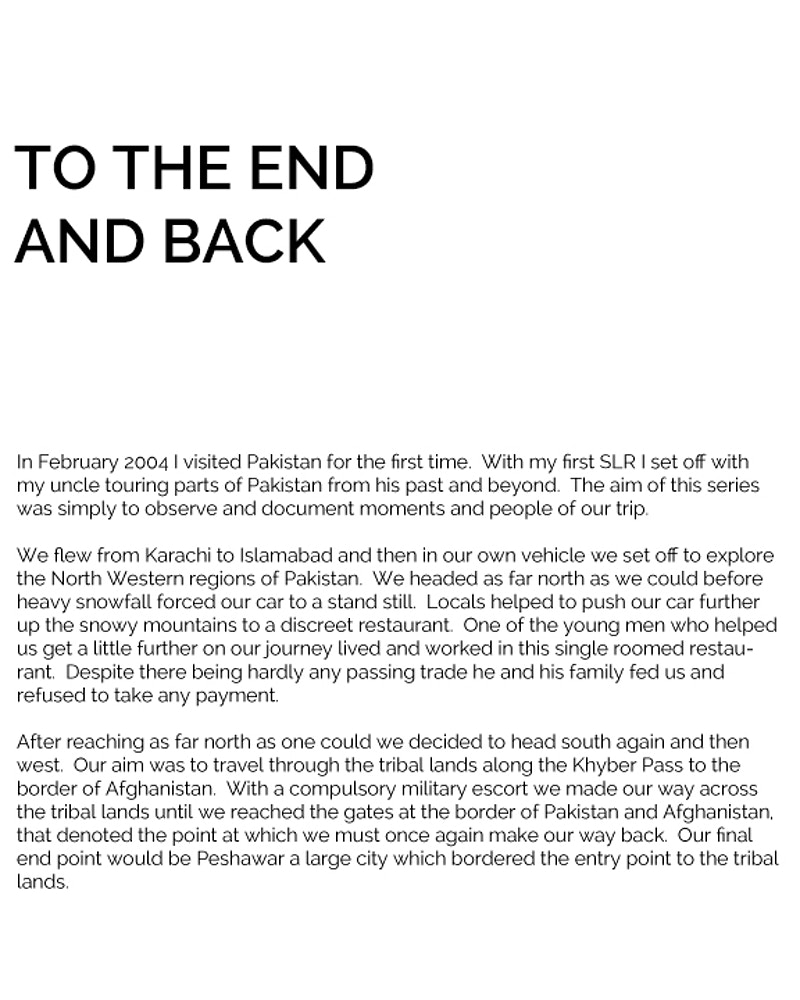 To The End And Back - Daniel Ali Photography & Moving Image