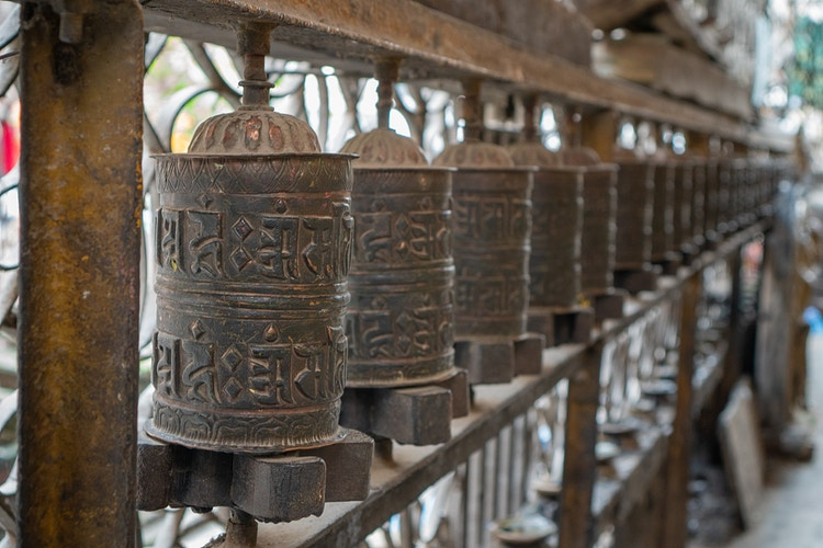 Prayer wheels in Kathmandu Nepal - Daniel John Photography
