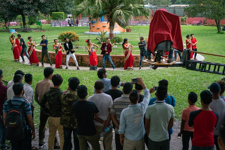 A music video being filmed at a park in Kathmandu, Nepal - Daniel John Photography