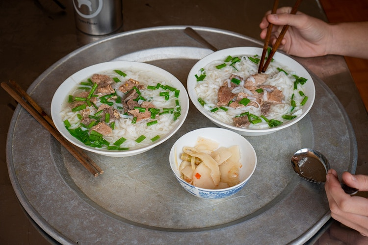 Handmade pho from a homestay in North Vietnam - Daniel John Photography